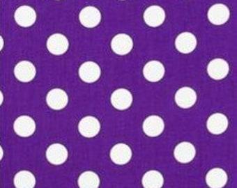Purple and White Polka Dot Tablerunner