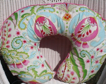 Kumari Garden Teja Pink and Minky Boppy Cover