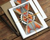 Pack of Three Art Cards: Shield of the Southwest blank greeting cards