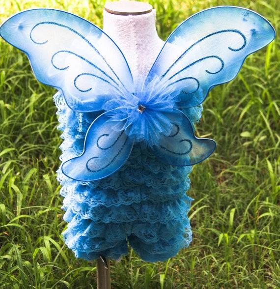 Turquoise Fairy Petti Romper set