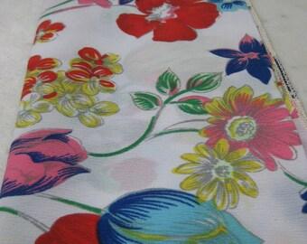 Vintage Vibrant Floral Scarf