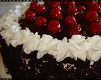 Nannys Super Easy Black Forest Cake Recipe~~~Instant Download