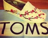 Custom Cherry Blossom Custom TOMS Shoes