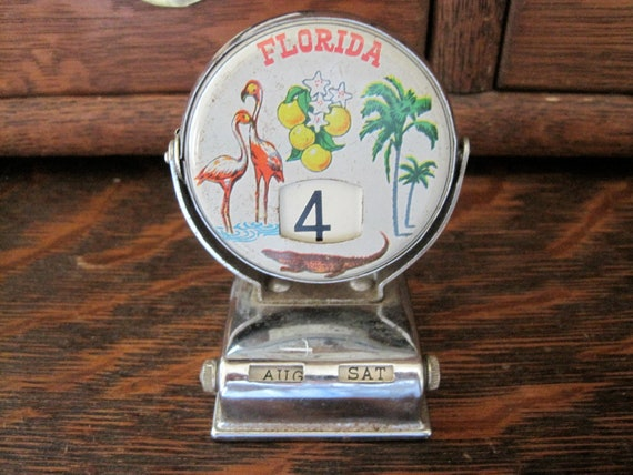 Vintage Florida Perpetual Flip Calendar