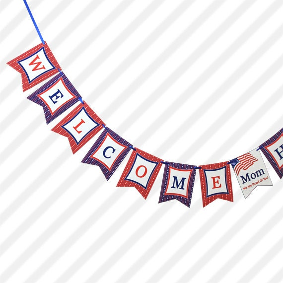 DIY PRINTABLE Personalized Welcome Home Military Banner