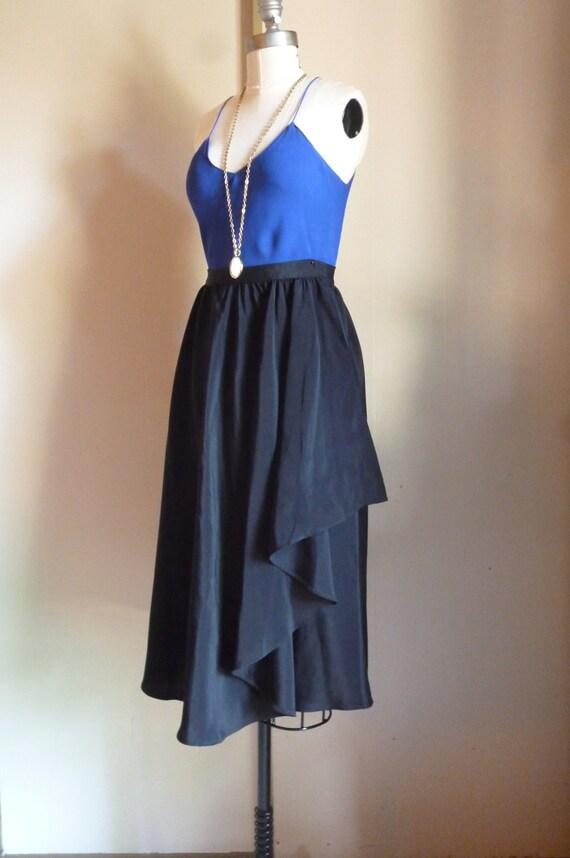 Black Fluttery Wrap Skirt