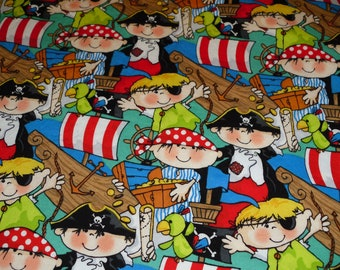 Pirate Baby Toddler  Bedding fitted sheet with standard  pillowcase