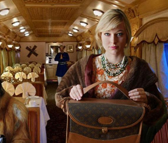 Vintage Louis Vuitton Luggage Train Case Beauty Tote Makeup Case