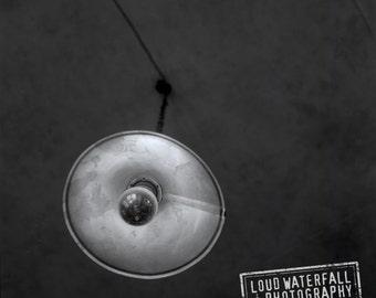 Long Exposure, Lamp, Lightbulb, Interior, Prague Cafe Detail - 8x8 10x10 12x12 20x20 Fine Art Photograph