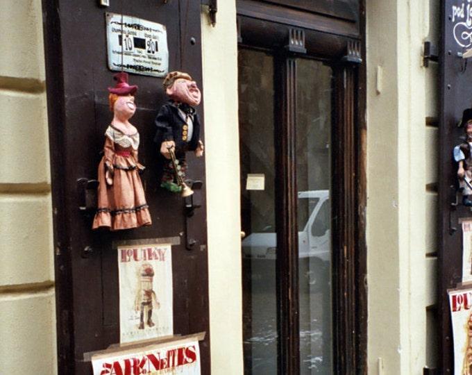 Marionette Storefront, Off the Charles Bridge, Architecture Mala Strana Praha Prague - 5x7 Fine Art Photograph