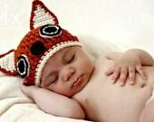 Foxy Beanie - Fox Hat CROCHET PATTERN