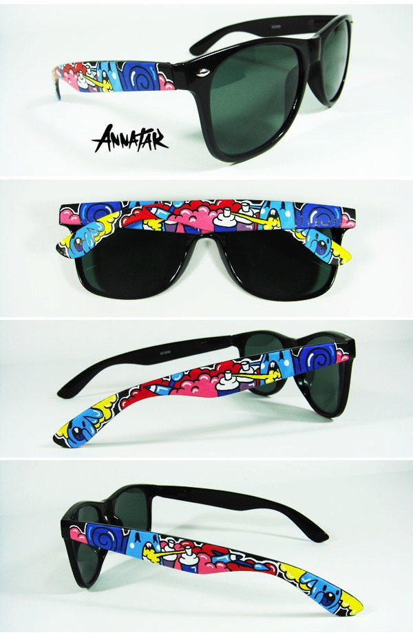 custom sunglasses  Annatar original design Custom Sunglasses hand painted