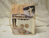 "Travel ""GO"" Journal and Pocket Altered Discarded Book"