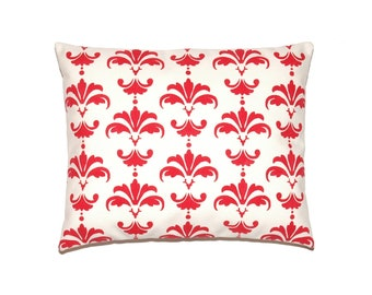 Personalized Christmas Reindeer Damask Pillow Cover - Your Choice of Color Print and Size