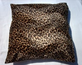 Leopard print 16 x 16 inch cushion cover,pillow sham, throw pillow handmade in a luxuriously textured faux fur
