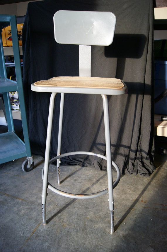 Vintage Factory Industrial Stool Chair