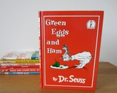 Dr Seuss vintage kids book Green Eggs and Ham 1962 hardback in very good condition, classic childrens story