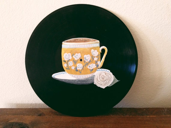 Teacup Painting on Vinyl
