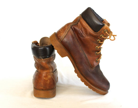 Vintage Timberland Leather Ankle Boots Size 7M