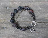 Ankh bracelet sterling or fine silver
