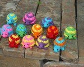 Bright Spiral Shell Crochet Tiny Turtles