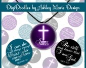 Bible Scripture Verse Religious Cross set - Black Teal Purple - 4x6 300dpi jpg Digital Bottle Cap image sheets for jewelry and hair bows