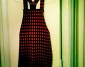 Retro Women's XS - S 90s Plaid Schoolgirl Overall style Minidress