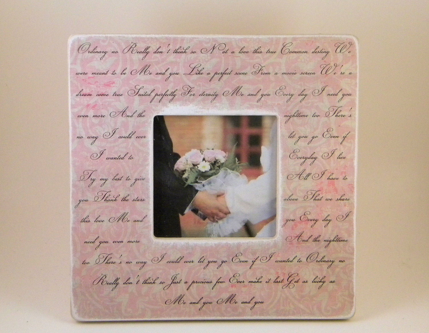 Wedding Vows Framed Wedding Song Lyrics By PersonalizedFrames1