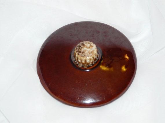 Hull Pottery Lid Vintage Drip Ware