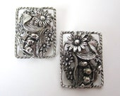 Vintage 1960s Sarah Coventry Silver colored Clip On Earrings // SC // Sarah Cov // 60s // clips // clipons