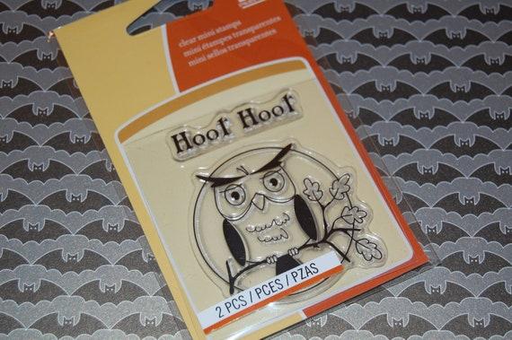 Inkadinkado Fall / Halloween Owl Clear Stamp Set