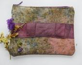 Moss - hand dyed zipper pouch /murMur