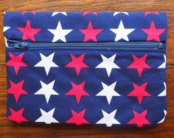 Kindle Keyboard Sleeve in Patriotic Red, White, and Blue Stars
