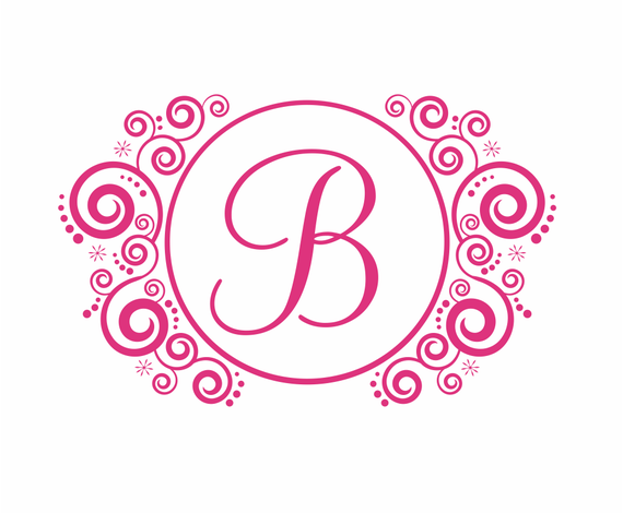 Items Similar To Name And Initial Vinyl Wall Decal