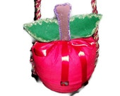 Red Apple Drawstring Purse