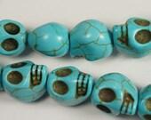 Howlite  Skull Beads 13x11mm Gemstone Beads Bead Supply Jewelry Making Supplie