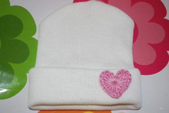 infant hat- baby hat- newborn hat- its a girl- baby girl- little sister- pink bow- baby bow- infant bow- pink rose