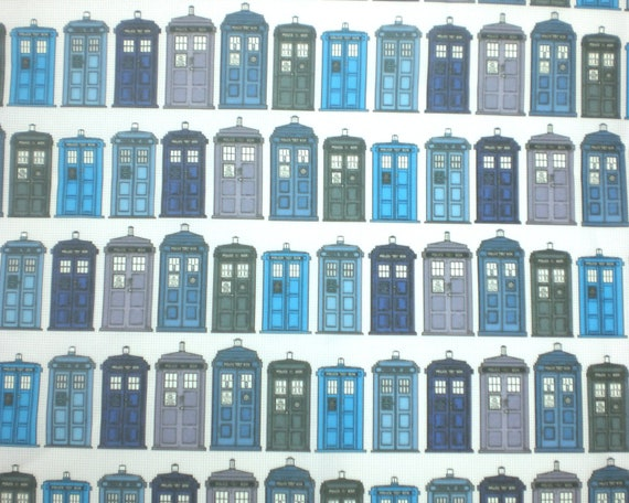 Doctor Who Fabric Fat Quarter - Tardis History by Theunicornandthewasp