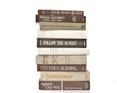 Beige brown Soft White 10 Book Collection interior design Fall Feeling Vintage Book decor