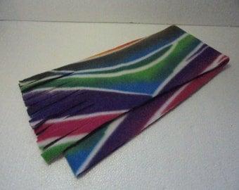 Winter Fleece Scarf in Multi Color Print