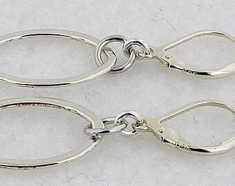 Sterling Silver Earrings Lever Back Earrings 38