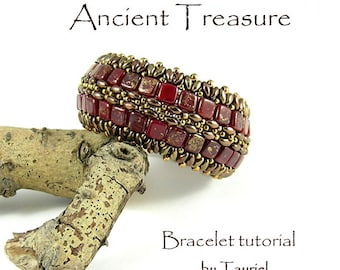 Ancient Treasure beadwoven bracelet pdf tutorial