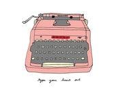 Vintage Typewriter - 5x7 Illustration Art Print