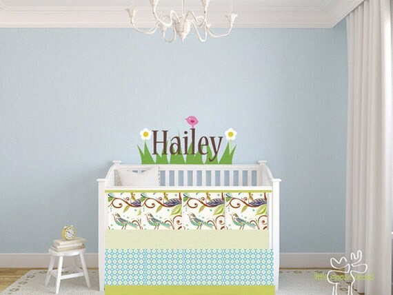 Modern Baby Bedding Crib Quilt and Crib Skirt - Modern Prints / Blue/ Pink Birds