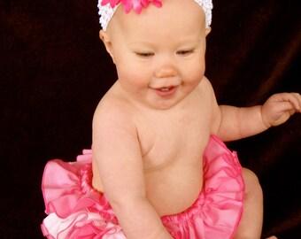 Beautiful Parley Ray Baby Girls Ruffle Skirt Pink all around Ruffled Baby Bloomers/ Diaper Cover / Photo Props