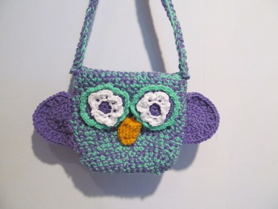 Crocheted Owl Purse for Children
