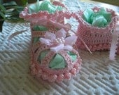 Pink Pearled Baby Girl Booties / Sandals / Girly Girl