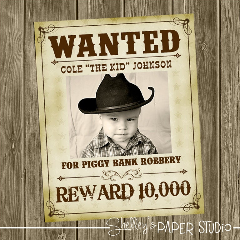 Wanted poster – Wanted Invitation