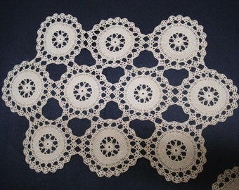 SPECIAL LACE CENTERPIECE Hand Crochet  Lace  Decorate  Table Centerpiece Perfect Gift