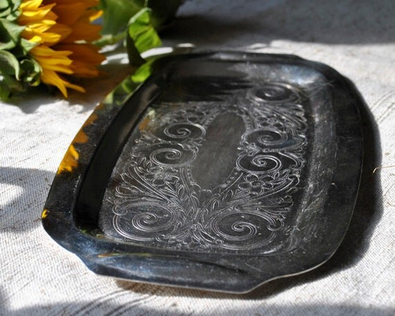 Vintage Silver Tray by Modern Silver pretty details